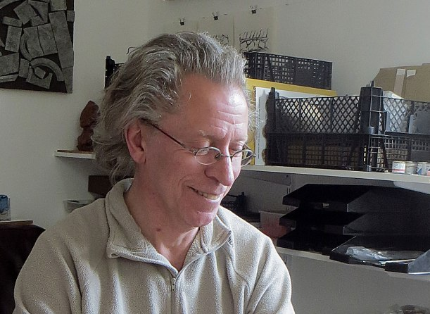 David Neat in his Studio